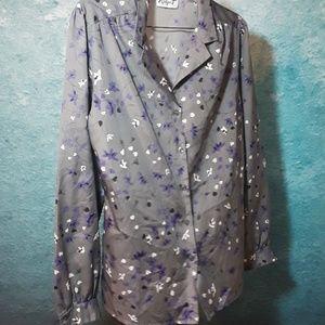 Vintage silk shirt by Ridge T size large